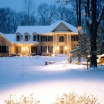 Landscape Lighting in Winter